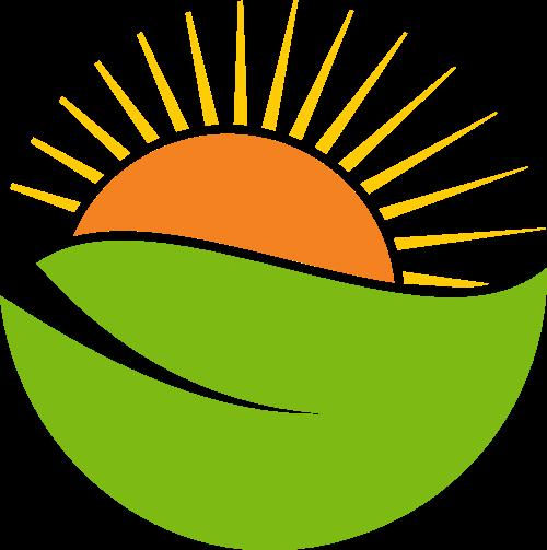 绿叶太阳矢量LOGO素材