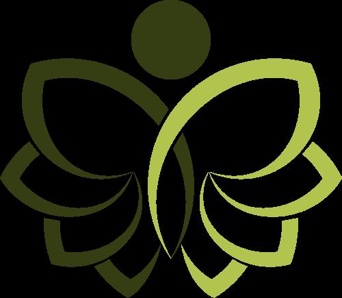 人形花素材LOGO 矢量图标矢量logo