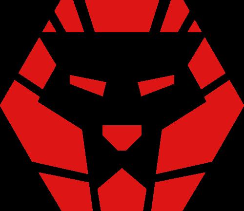 正六边形狮头矢量LOGO图片