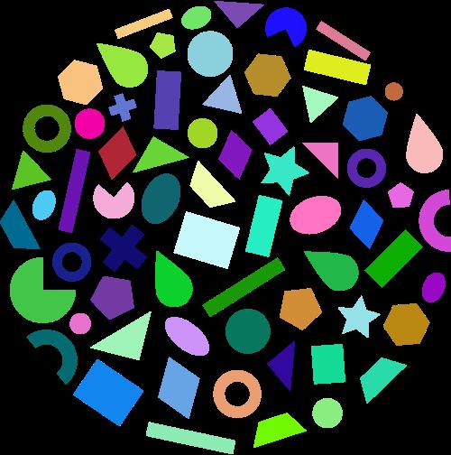 彩色创意设计相关矢量logo图标矢量logo