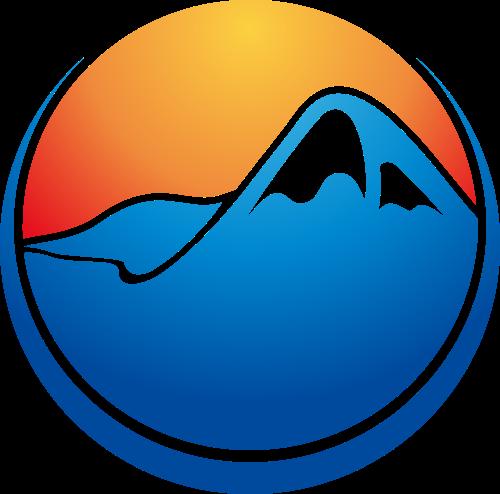 山形太阳圆形矢量LOGO素材矢量logo