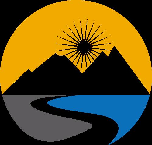 风景绿色环保旅游相关矢量logo图标