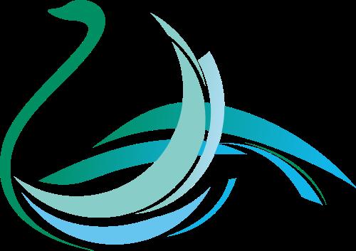 创意线条天鹅形矢量LOGO素材矢量logo