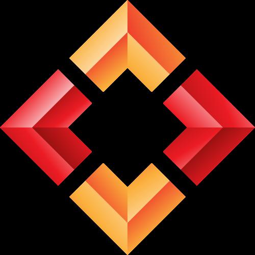立体方形箭头矢量LOGO图标矢量logo