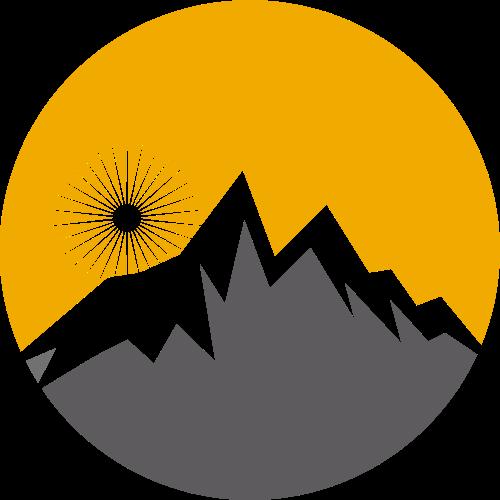 灰色山峰户外环保旅游相关矢量logo图标矢量logo