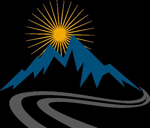 蓝色山峰户外环保旅游相关矢量logo图标矢量logo