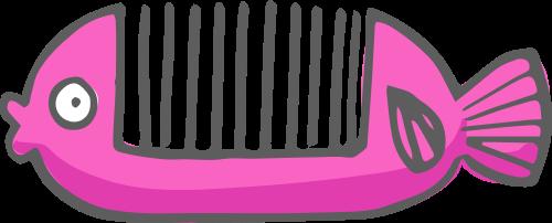 粉色鱼骨发梳矢量LOGO素材矢量logo