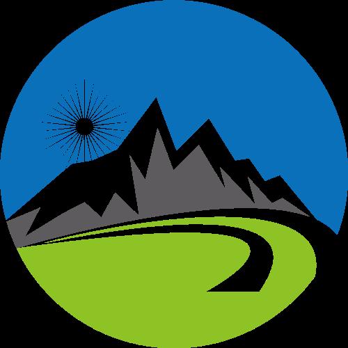 风景绿色环保旅游相关矢量logo图标矢量logo