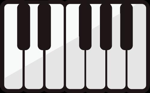 钢琴软件琴键艺术音乐矢量logo图标