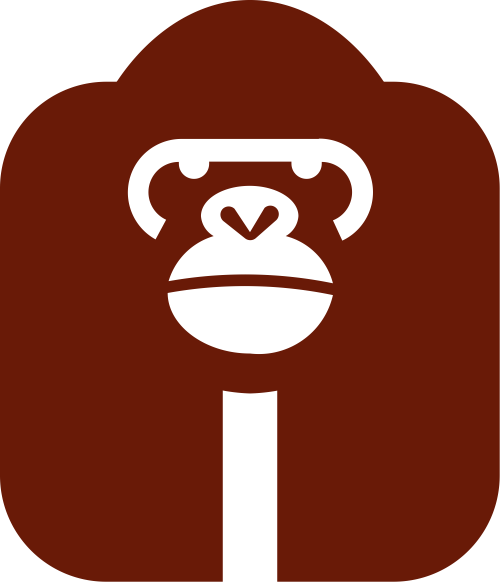 红色猩猩创意矢量logo图标矢量logo