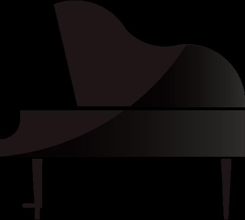 黑色古典钢琴艺术音乐相关矢量logo图标矢量logo
