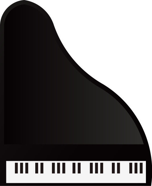 黑色钢琴艺术音乐相关矢量logo图标矢量logo