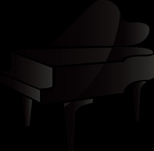 黑色古典钢琴艺术相关矢量logo图标矢量logo