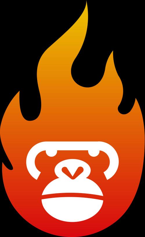 渐变猩猩火造型创意文化娱乐影视相关矢量logo图标