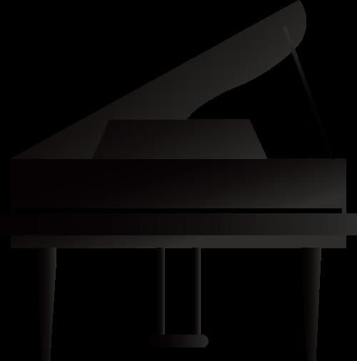 黑色钢琴琴键艺术音乐相关矢量logo