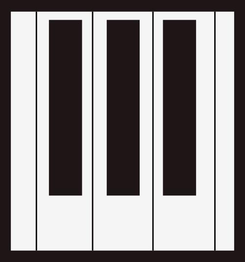 黑色钢琴琴键艺术音乐相关矢量logo图标