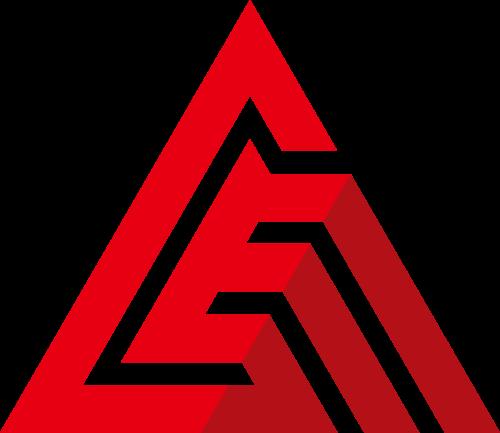 红色线条三角形矢量logo图标