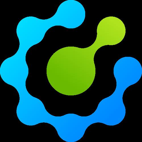 圆形工业齿轮细胞矢量渐变图标矢量logo
