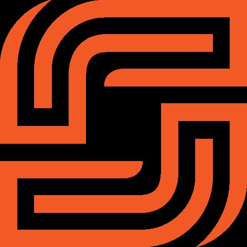 橙色圆形正方形线条矢量logo素材