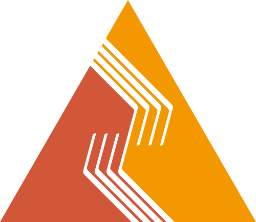 三角形橙色黄色合作团队矢量logo图标