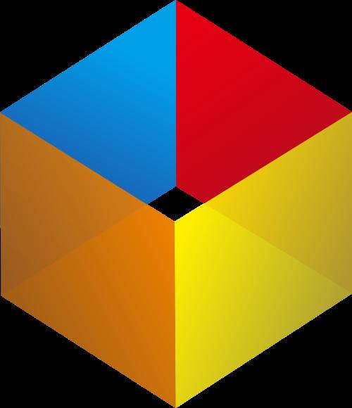 彩色立方体盒子矢量logo图标矢量logo