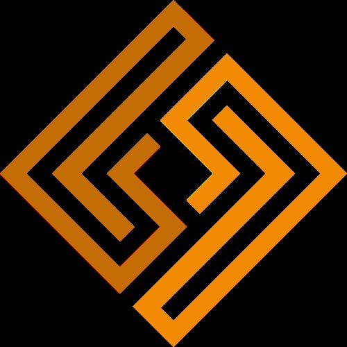 黄色菱形图案矢量图标