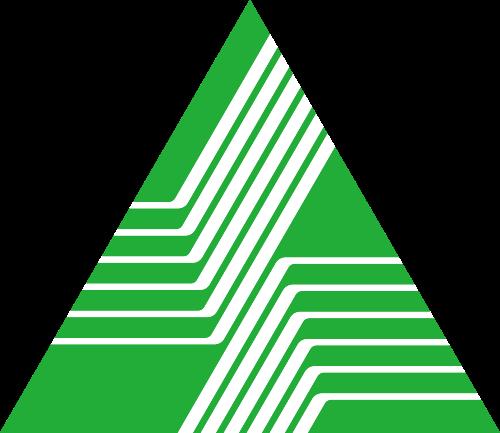 绿色三角形环保金融相关矢量logo图标矢量logo