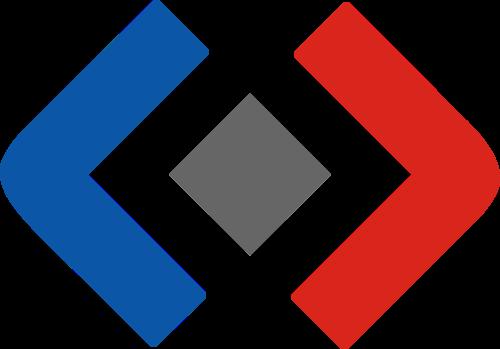 蓝色红色括号货币投资相关矢量logo图标矢量logo