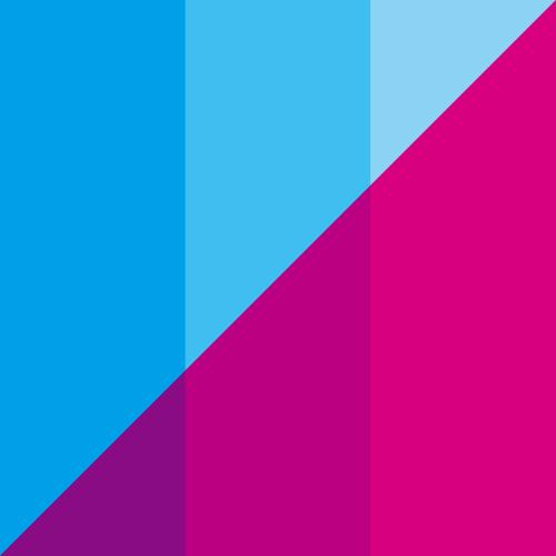 双色渐变三角正方形logo图案素材