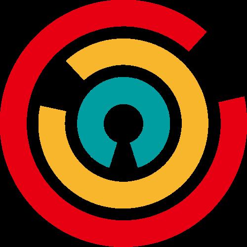 圆形线条抽象logo素材图标