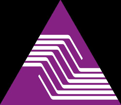 紫色三角形金融相关矢量logo图标矢量logo