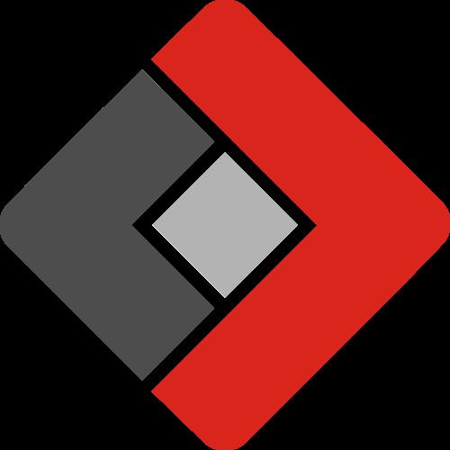 红色黑色正方形银行货币矢量logo图标矢量logo