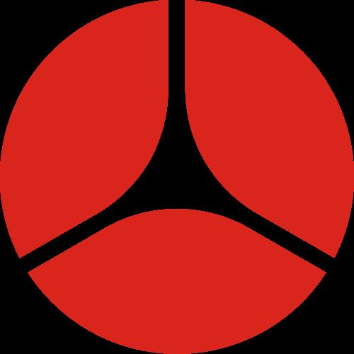 红色圆形工业金融相关矢量logo图标矢量logo
