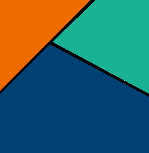 几何正方形颜色组合logo图标