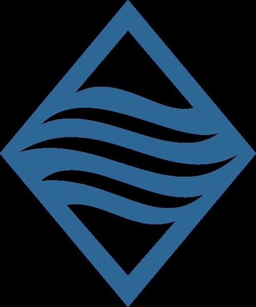 蓝色菱形河流矢量logo图标矢量logo