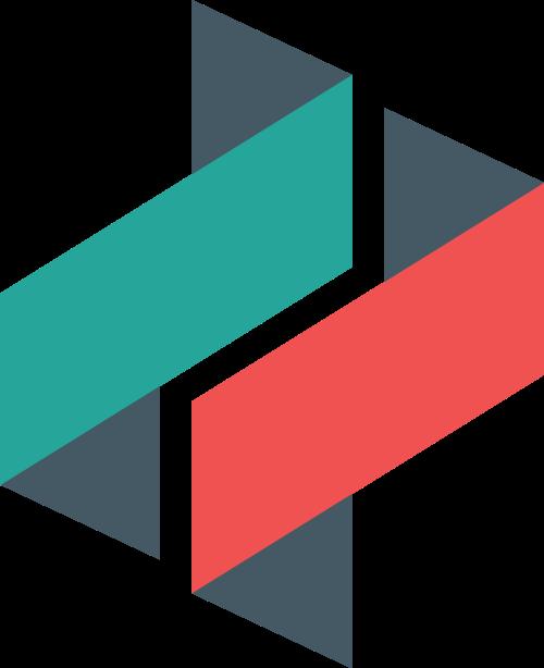 折叠抽象字母Z字母S矢量图标