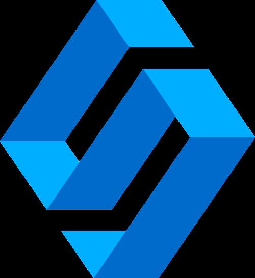 蓝色立体字母S矢量logo图标素材矢量logo