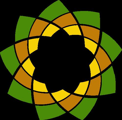 渐变花朵形状创意设计艺术矢量logo图标矢量logo