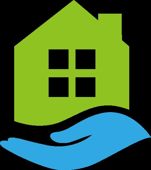 房子手地产中介租房家政相关矢量logo图标矢量logo