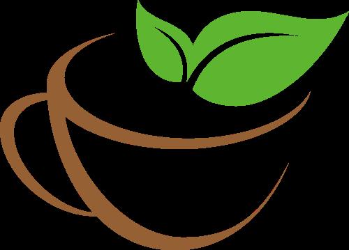 叶子绿色有机咖啡相关矢量logo图标矢量logo
