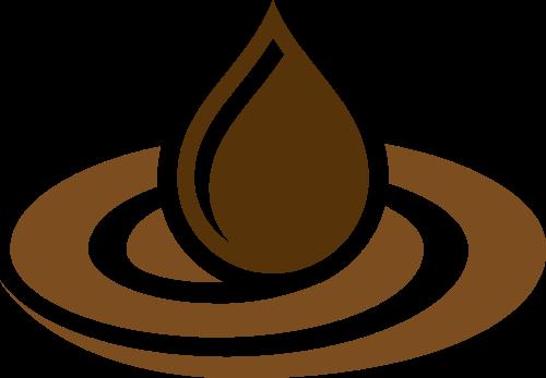 餐饮咖啡水滴矢量logo图标矢量logo