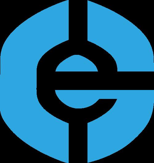 蓝色字母e互联网贸易相关矢量logo图标矢量logo