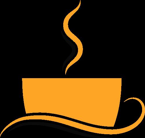 咖啡主题杯子形状矢量logo图标