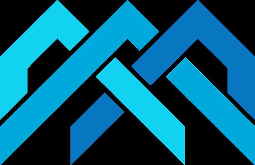 蓝色山峰三角旅游贸易相关矢量logo图标