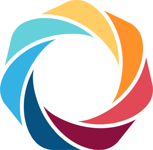 彩色圆环立体抽象影视摄影相关矢量logo图标