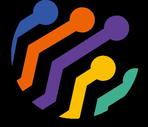 彩色球形社团相关矢量logo图标