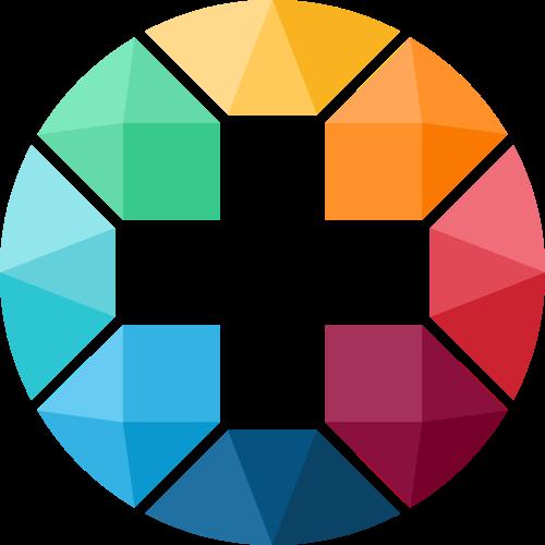 彩色十字架医疗制造相关矢量logo图标矢量logo