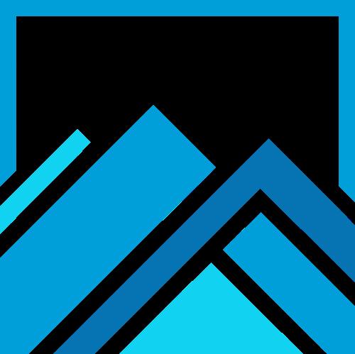 蓝色山峰三角环保旅游相关矢量logo图标矢量logo