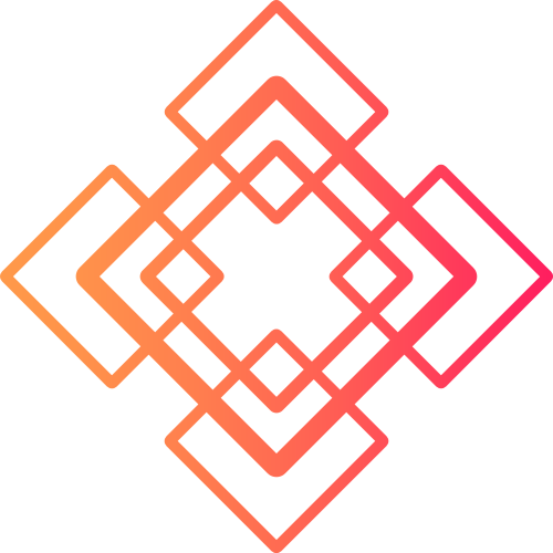 红色渐变方块文化相关抽象矢量logo图标