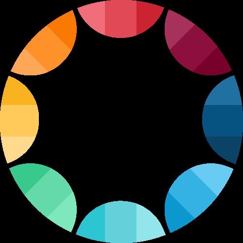 彩色圆形综合矢量logo图标矢量logo